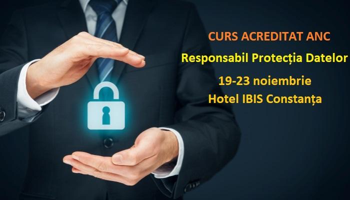 Curs Responsabil Protecția Datelor Acreditat ANC 19-23 noiembrie la Constanța