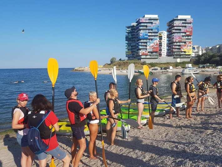 Relaxare prin mișcare cu caiacul pe Marea Neagră, zona Pescărie, cu Dream Explorer