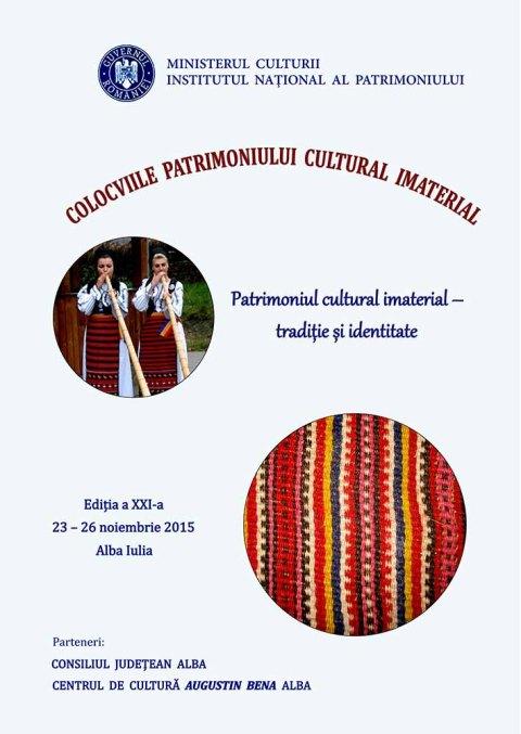 afis Colocviile Patrimoniului Imaterial