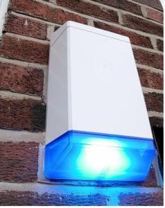 Burglar alarm flashing