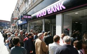 food bank Queue