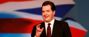 Osborne crosses his fingers for luck as he announces his Big Idea.