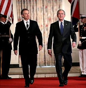 George W. Bush, Tony Blair