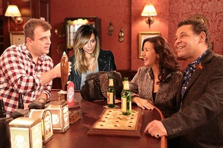 Kim settles down at the Rovers.