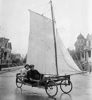 sailing car