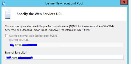 web services url