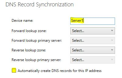 DNS record