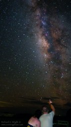 My daughter and son-in-law admiring the Milky Way from the Dry Tortugas
