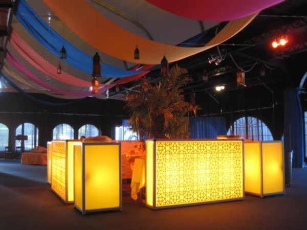 glow bar led 6 lighted event furniture