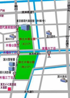 第35回江東区民まつり中央まつりの会場マップ