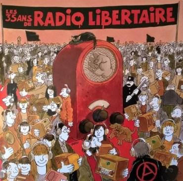 pochette 35 ans de radio libertaire recto