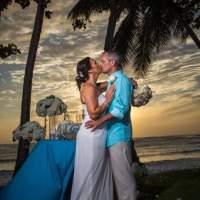 Beautiful sunset wedding at Rincon Tres Palmas Inn & Villas