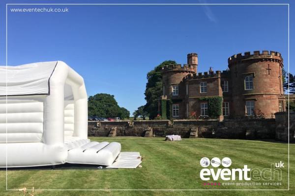 White Wedding Bouncy Castle in Shropshire