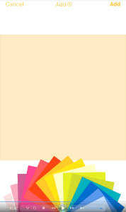 post it pluss app choose color