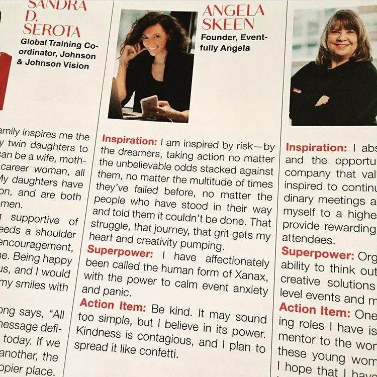 Eventfully Angela: Angela Skeen award 100 women who inspire us