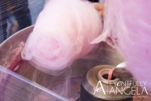 Spiked cotton candy