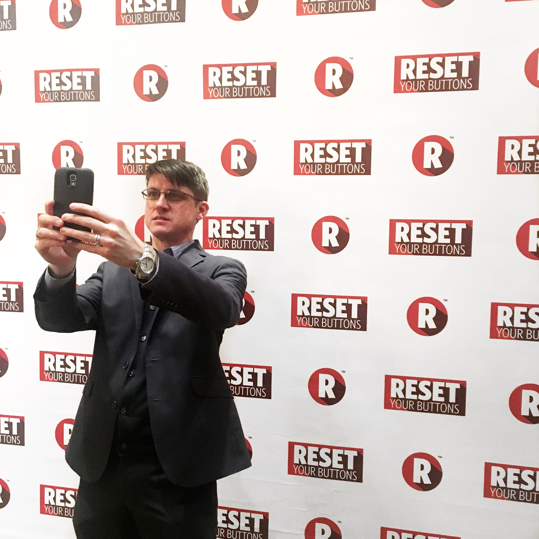 step and repeat event branding