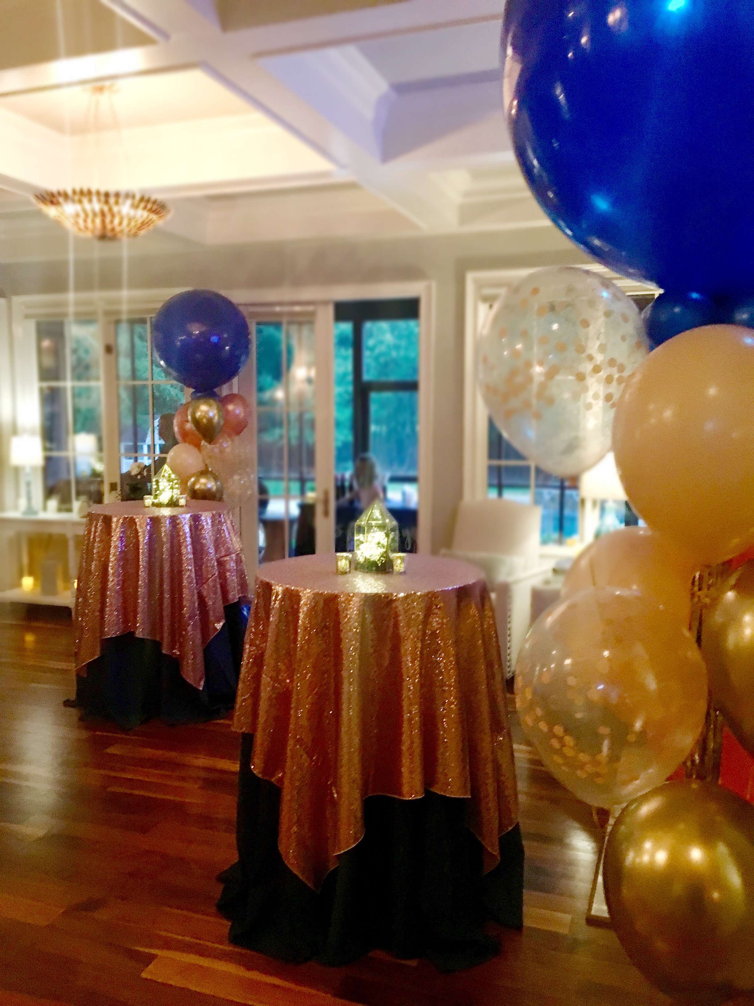 blue and blush event