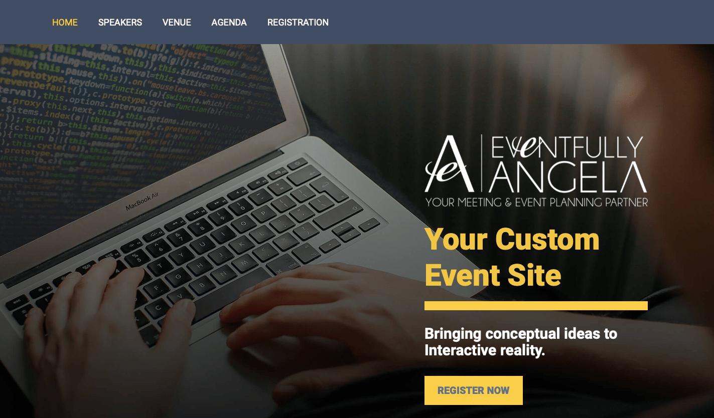 Corporate event website sample