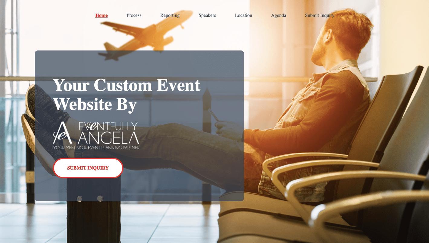 Event registration website sample