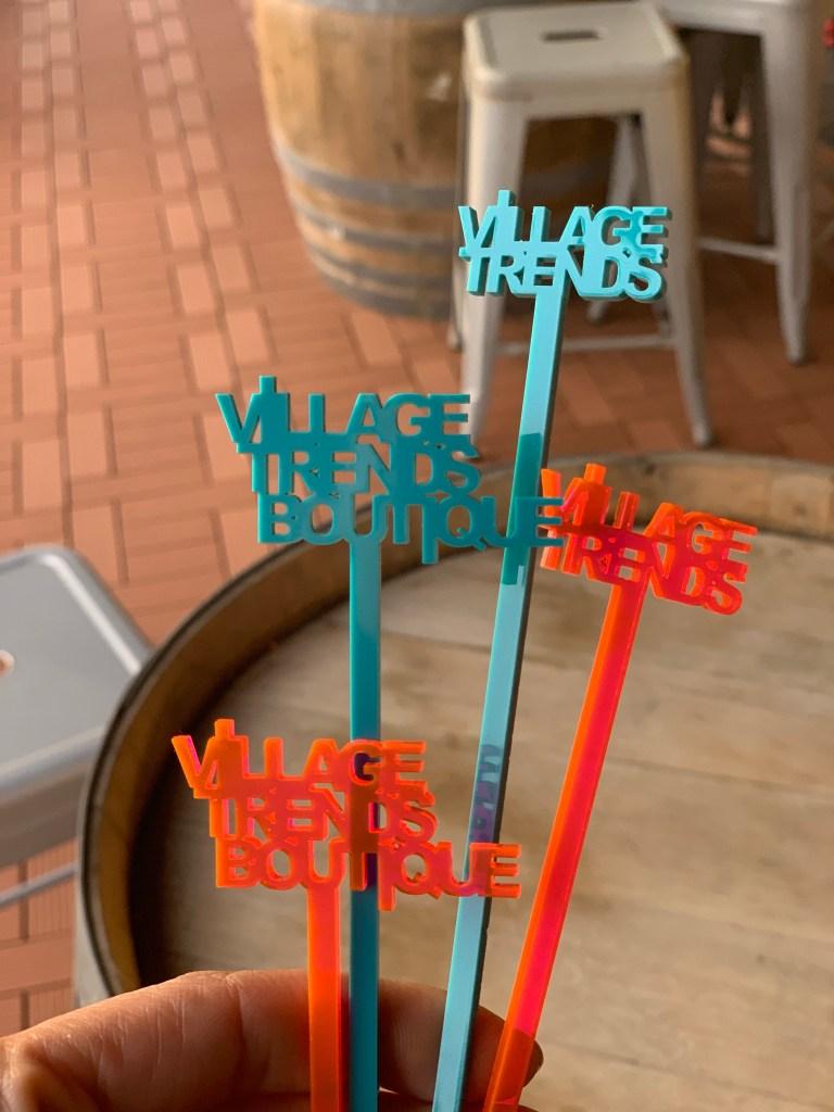 laser cut drink stirrers