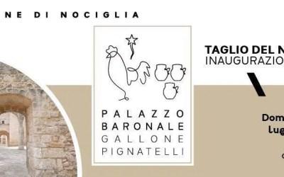 Invito all'inaugurazione del Palazzo Baronale di Nociglia