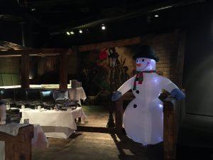 Buffetbereich bei Weihnachtsfeier
