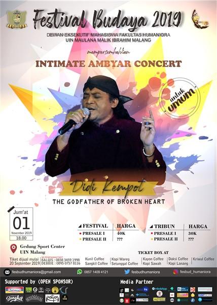 Festival Budaya 2019 Intimate Ambyar Concert Eventmalang