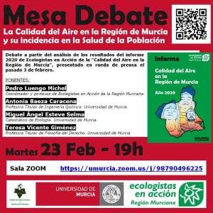 Mesa debate sobre la calidad del aire en la Región de Murcia