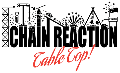 chain reaction table top feature logo
