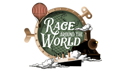 race around the world work from home logo
