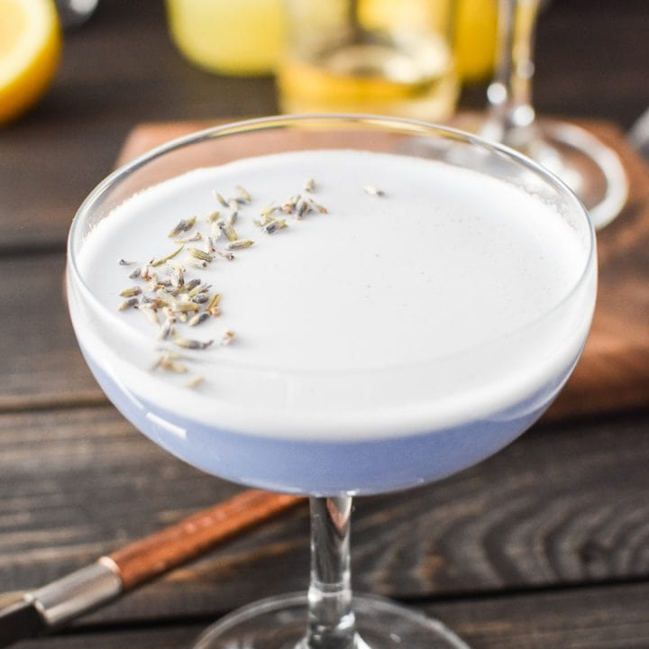 lavender gin sour
