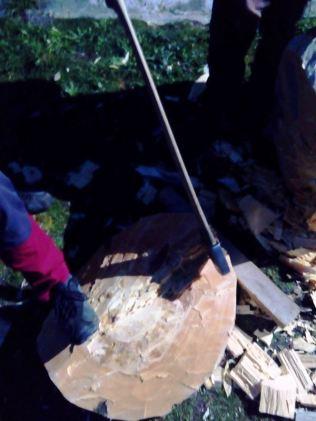 Cortador de troncos en una Finca en Segovia _8