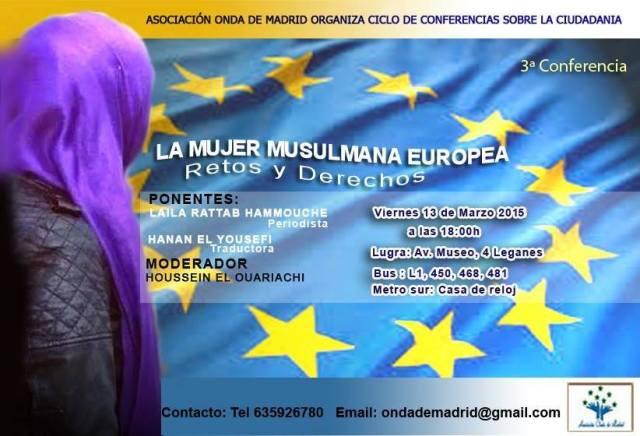 Charla sobre la Mujer musulmana europea el viernes 13 de Marzo en Leganes (Centro cívico las Dehesillas)