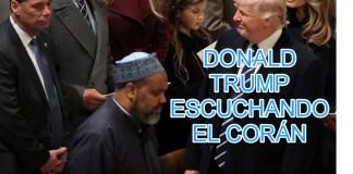 TRUM ESCUCHANDO EL CORAN--