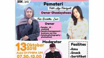 Entrepreneur Talkshow and Bazaars 2018 UM