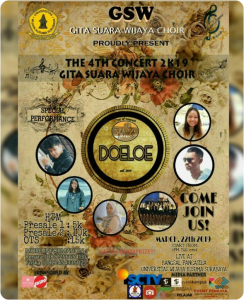 The 4th Concert 2k19 Gita Suara Wijaya Choir