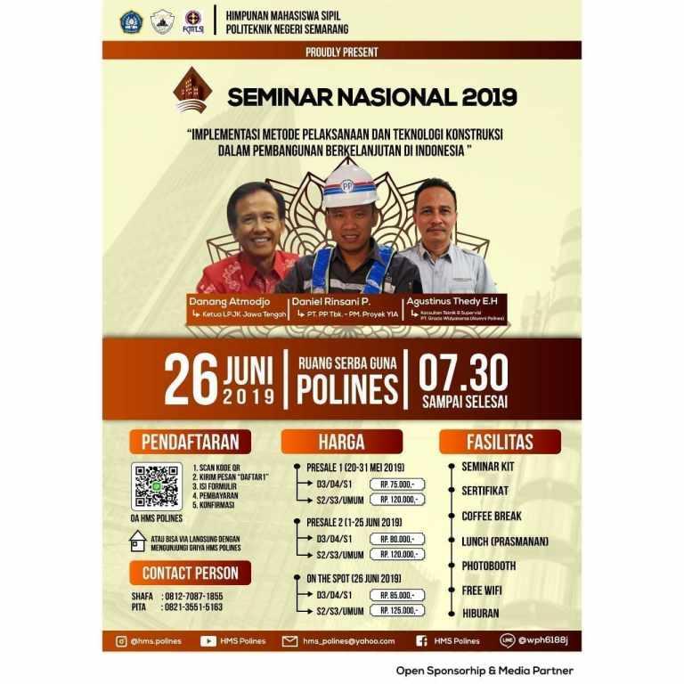 Seminar Nasional Kontruksi 2019 POLINES