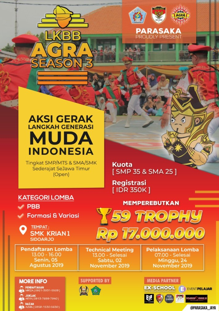 Lomba Ketrampilan Baris Berbaris AGRA 3rd