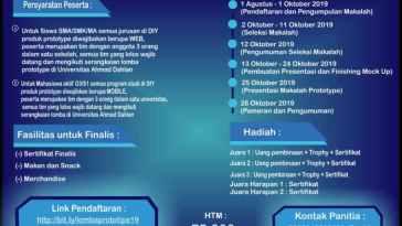 info Lomba Perancangan Prototype Aplikasi Web dan Mobile Se DIY tingkat sma/smk sederajat dan mahasiswa/i aktif D3/S1