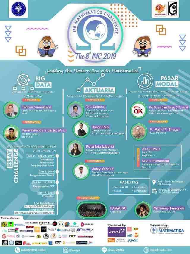 The 8th IPB Mathematics Challenge (IMC) 2019
