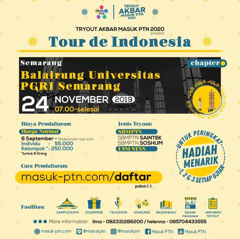 Try Out Akbar Masuk PTN 2020 Chapter Semarang