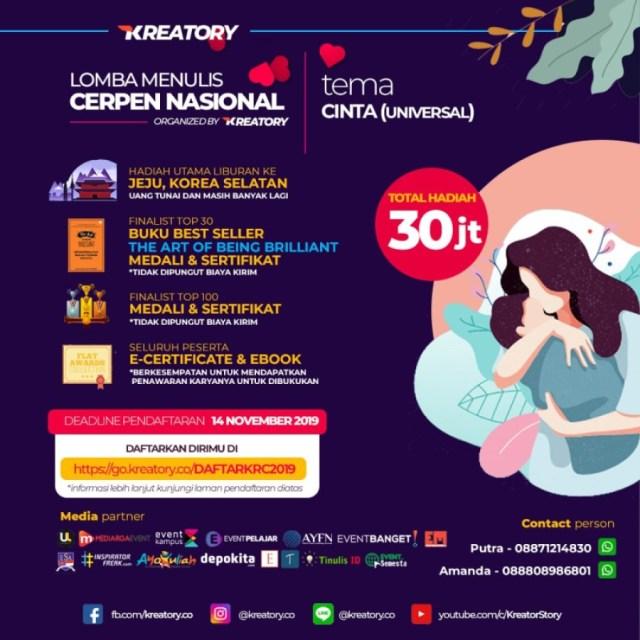 Lomba Cerpen Cinta Kreatory 2019