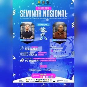 SEMINAR NASIONAL SI FEST 2019 HIMSI UNSRI