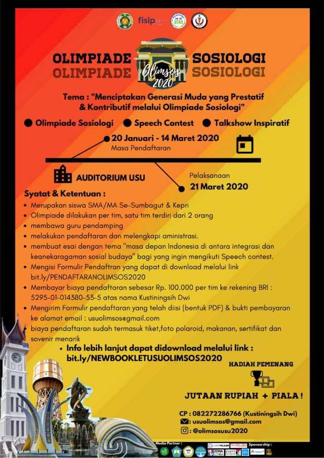 Olimpiade Sosiologi Tingkat SMA/MA se Sumatera Bagian Utara dan Kepri