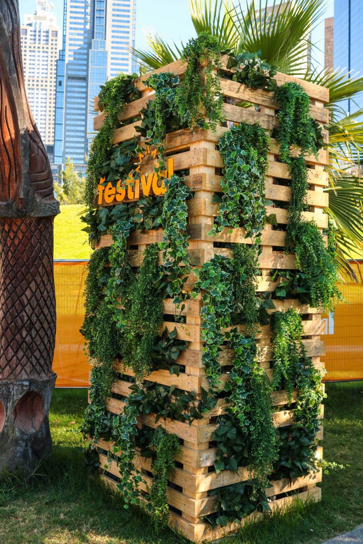 Festival tower pallet event plants melbourne hire