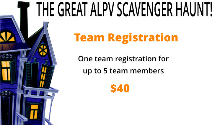 The Great ALPV Scavenger Haunt Registration