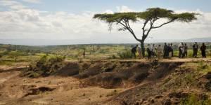 Kenya landscape view - Cross-cutting