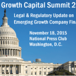 Panel to Address Emerging Growth Capital Legislative and Regulatory Policy in the Post-JOBS Act Era
