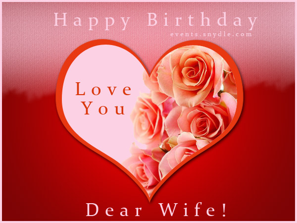 Valentine Card Design Happy Birthday Card For Wife Free Download